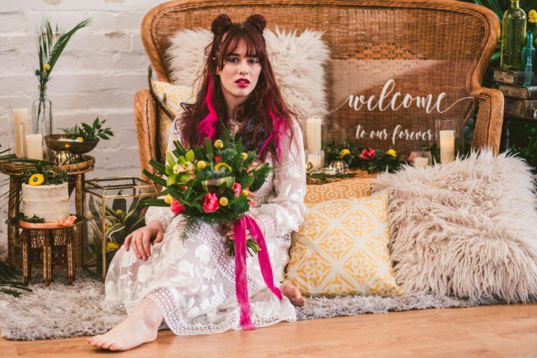 Bold & Tropical Bohemia – Styled Wedding Photography